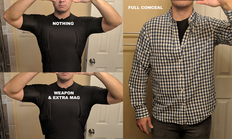 5.11 tactical concealed carry shirt multiple views
