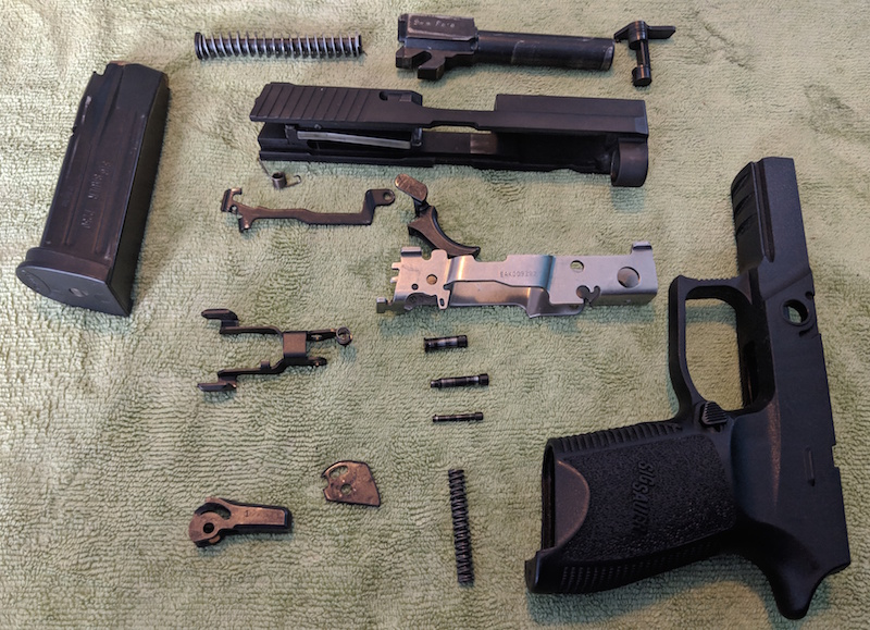 How To Disassemble A Sig Sauer P250 Including Trigger Assembly