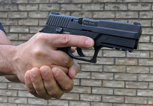 gripping pistol with tea cup grip