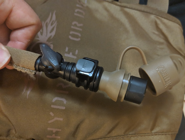 camelbak hydration hose and tip - tactical vs. non-tactical edc bag