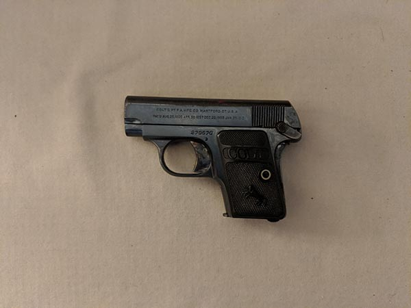 size of handguns: pocket pistol .25 ACP