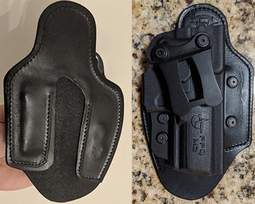 comptac hybrid holster construction and material