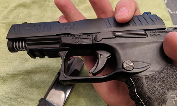 Step 4: Removing The Slide From Walther PPQ