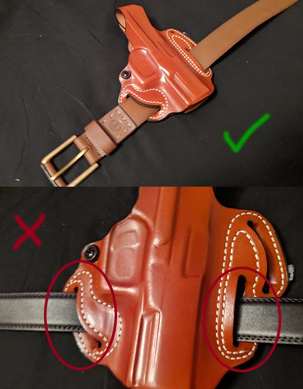 proper belt fit to prevent holster movement