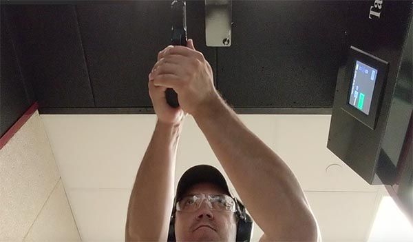 shooting with both eyes open at the shooting range