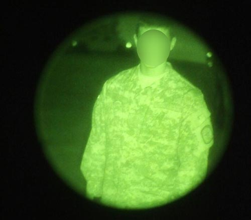 interviewed military police night vision image