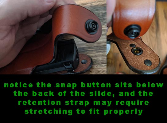 tips for stretching the retention strap to fit pistol
