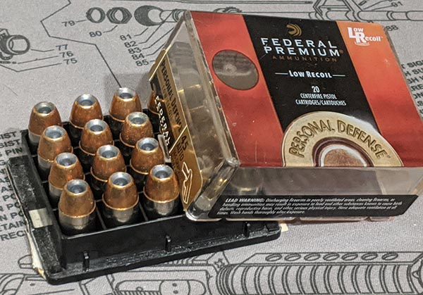 .45 ACP personal defense ammo for concealed carry