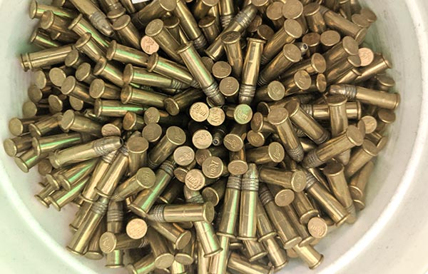 bucket of .22lr - best caliber for first time shooter