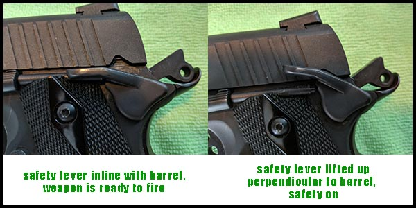 safety lever position in relation to barrel - is my safety on or off?