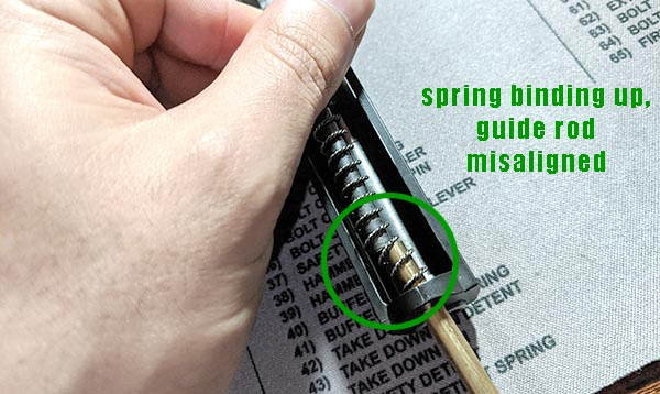problem with cleaning rod fix for pk380 spring