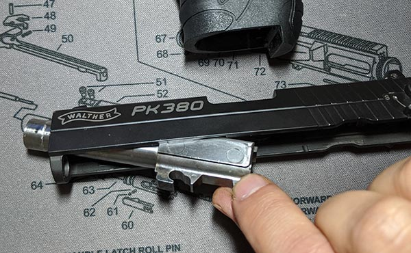 how to field strip pk380: barrel removal