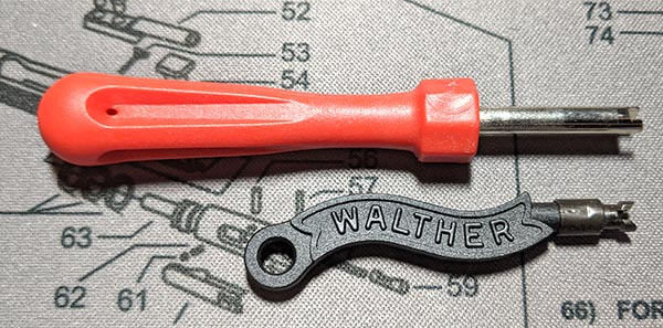 Walther PK380 disassembly tool and replacement