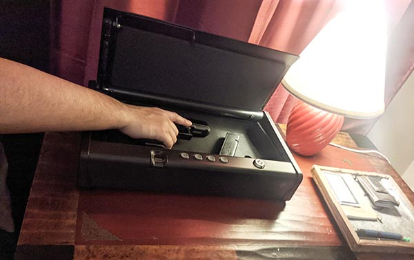 best bedside gun safe - mechanical safes and biometric safes