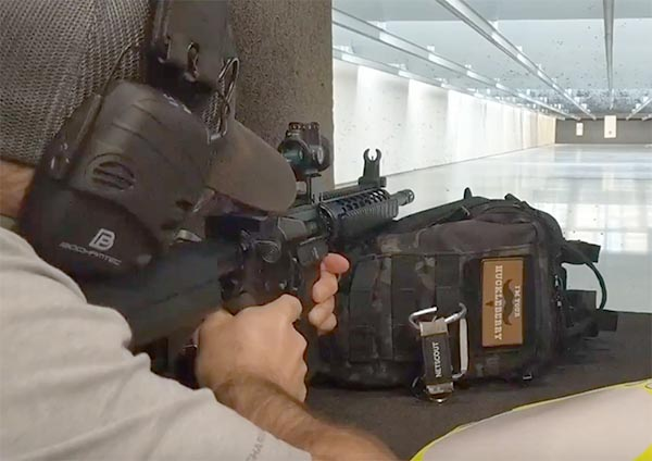 live fire of rifle on indoor range with bochamtec ear protection