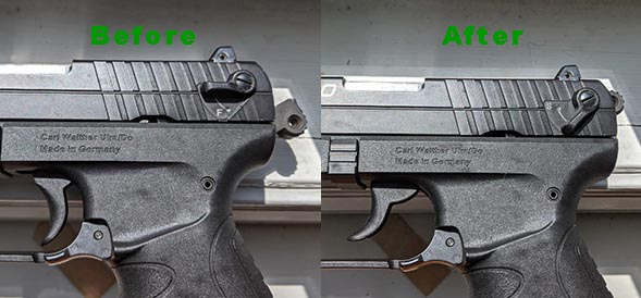 how to safely decock a pistol manually