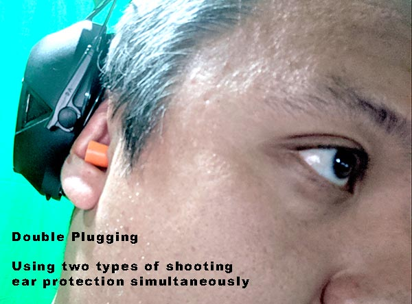 double plugging shooting ear protection method