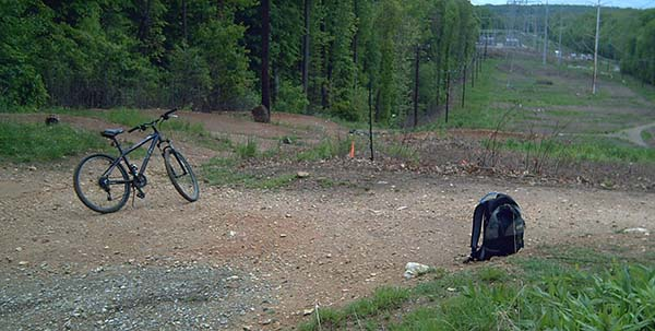 concealed carry while biking - mountain bike and backpack