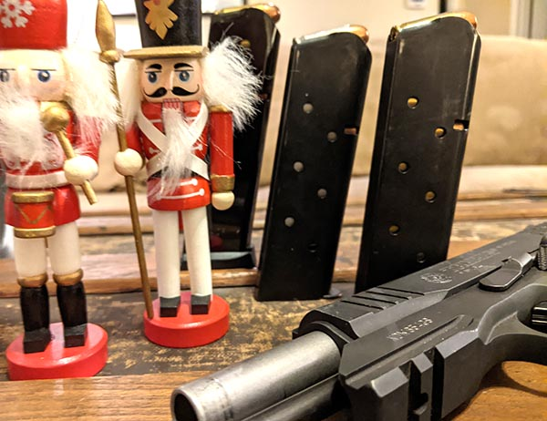 toy soldiers and pistol magazines - spare mags make a great stocking stuffer