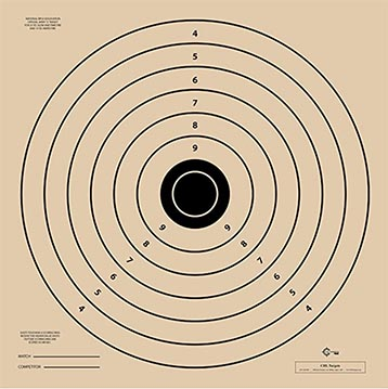 """""""L"""" target measures 28 x 28 inches and is used for RI shooting test"""