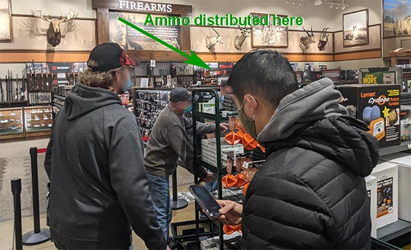 ammo found at major retailer - waiting in line because of ammo limits