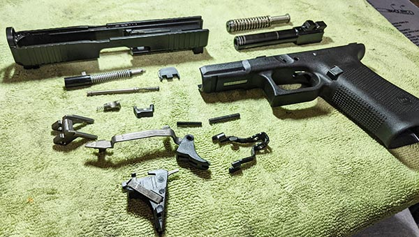 can't deep clean a gun without taking it apart