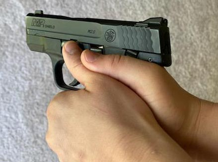 example of dry fire on striker fired m&p shield