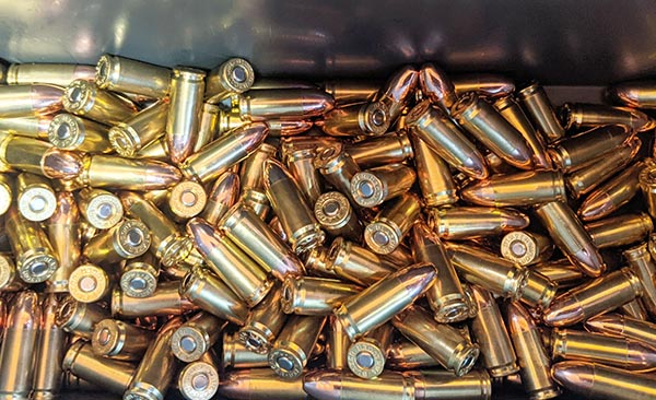 primers, powder, bullet, and casing combined - fully reloaded cartridges