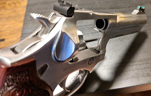 revolver with cylinder ejected