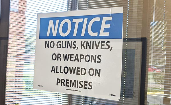 do obey posted signage when you concealed carry